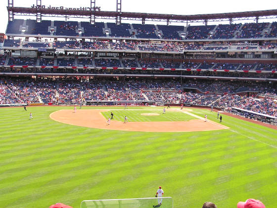 Citizens Bank park - from the Outfield