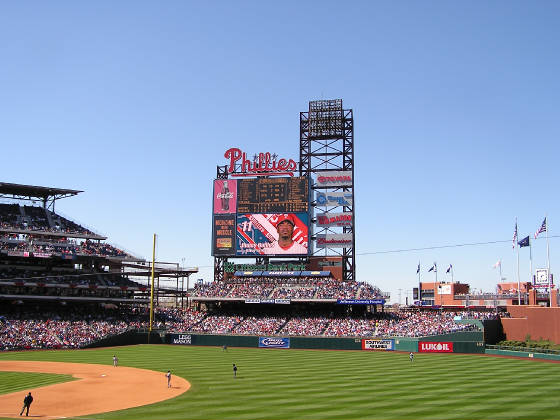 Citizens Bank Park - the Scoreboard