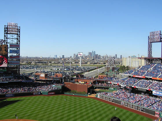 Citizens Bank Park - from above HP
