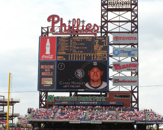 A closer look at Philly's scoreboard